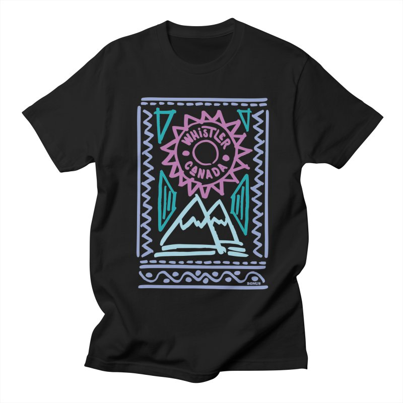 Whistler Blackcomb Retro Men's Regular T-Shirt by rad mountain designs by Ginette