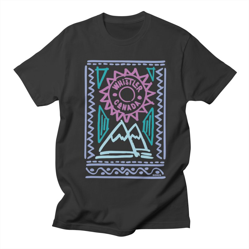 Whistler Blackcomb Retro Women's Regular Unisex T-Shirt by rad mountain designs by Ginette