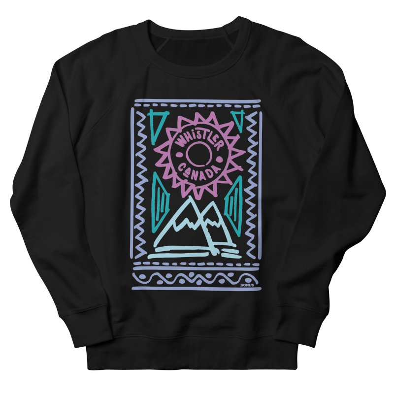 Whistler Blackcomb Retro Women's French Terry Sweatshirt by rad mountain designs by Ginette