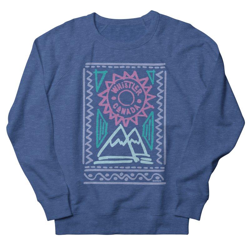 Whistler Blackcomb Retro Men's Sweatshirt by rad mountain designs by Ginette