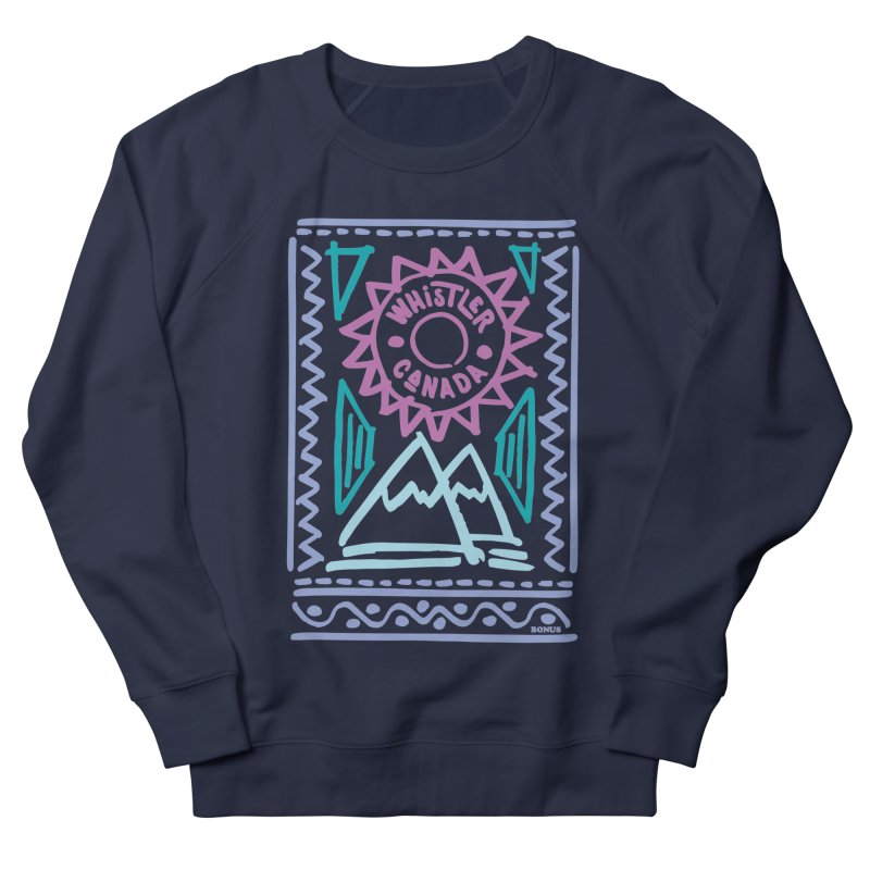 Whistler Blackcomb Retro Men's French Terry Sweatshirt by rad mountain designs by Ginette