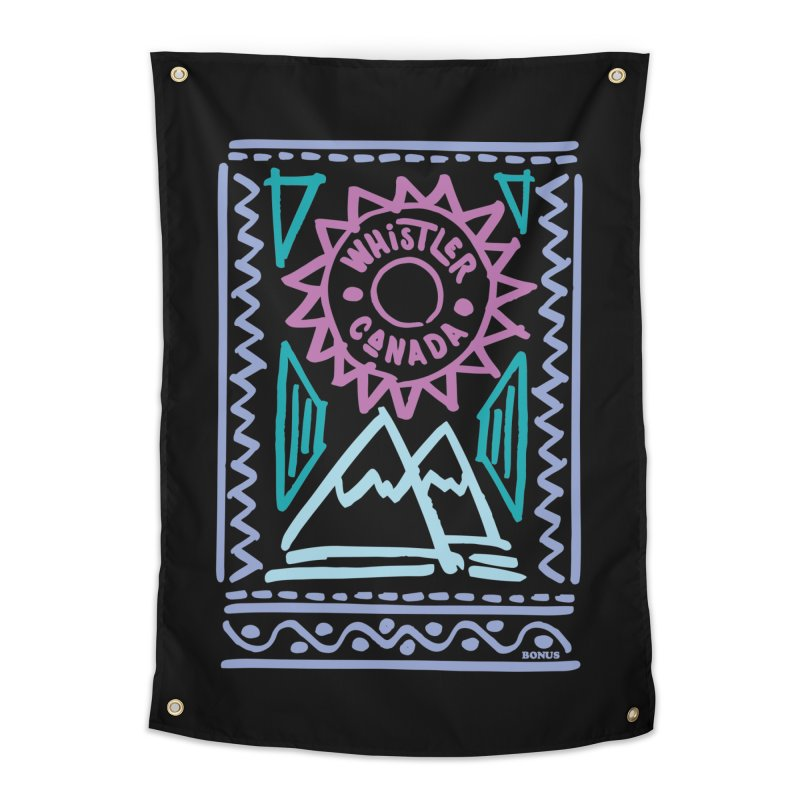 Whistler Blackcomb Retro Home Tapestry by rad mountain designs by Ginette