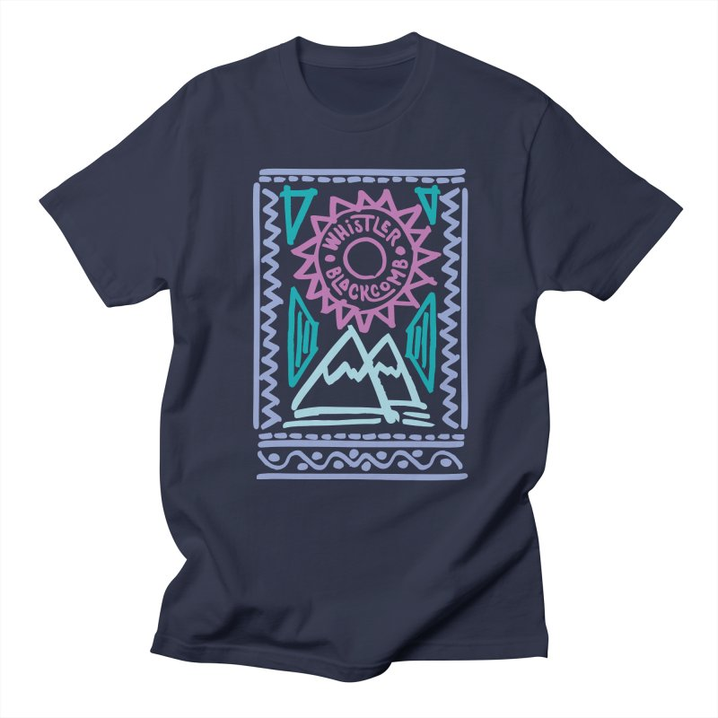 Whistler Blackcomb Retro Men's T-shirt by rad mountain designs by Ginette