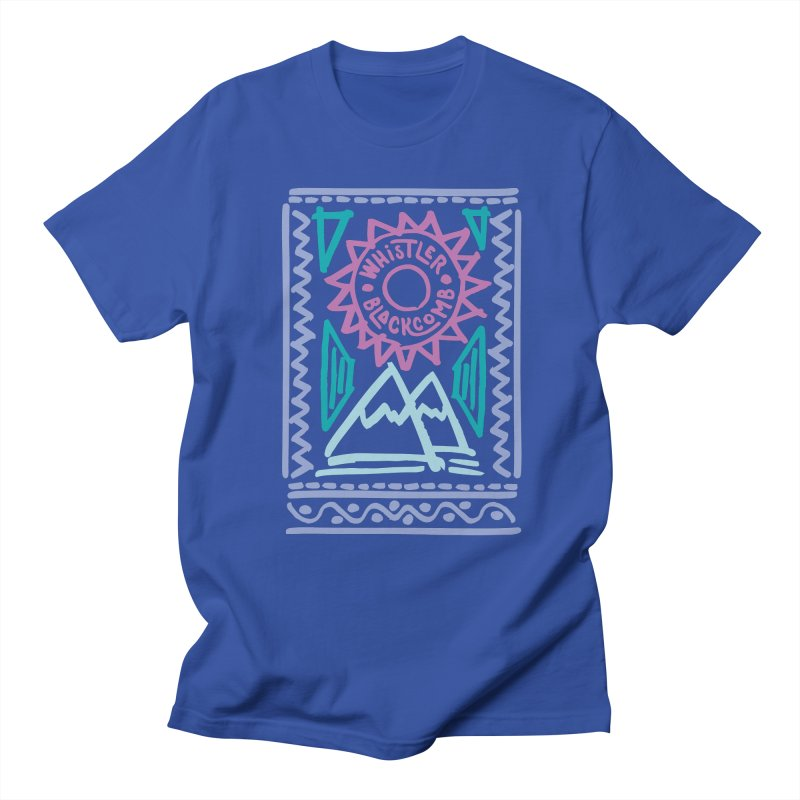 Whistler Blackcomb Retro Women's Unisex T-Shirt by rad mountain designs by Ginette
