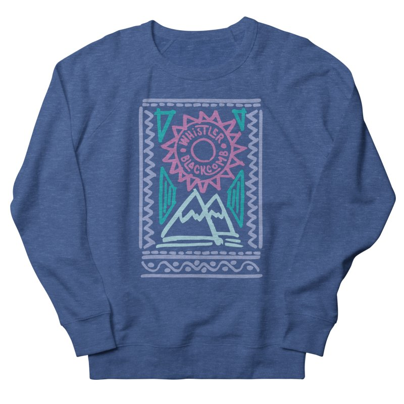 Whistler Blackcomb Retro Men's Sweatshirt by rad mountain designs by Ginette