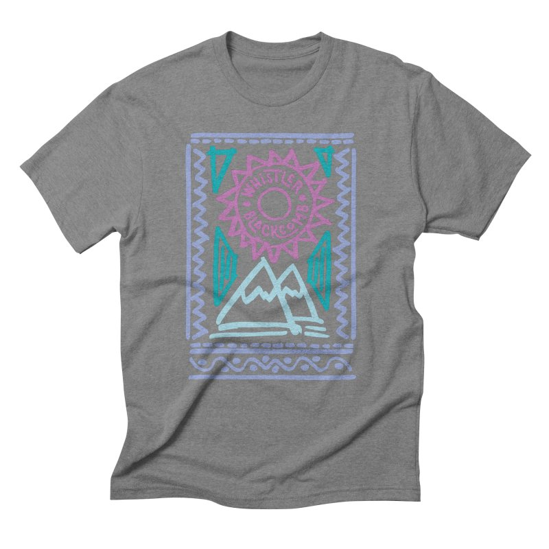Whistler Blackcomb Retro Men's Triblend T-Shirt by rad mountain designs by Ginette
