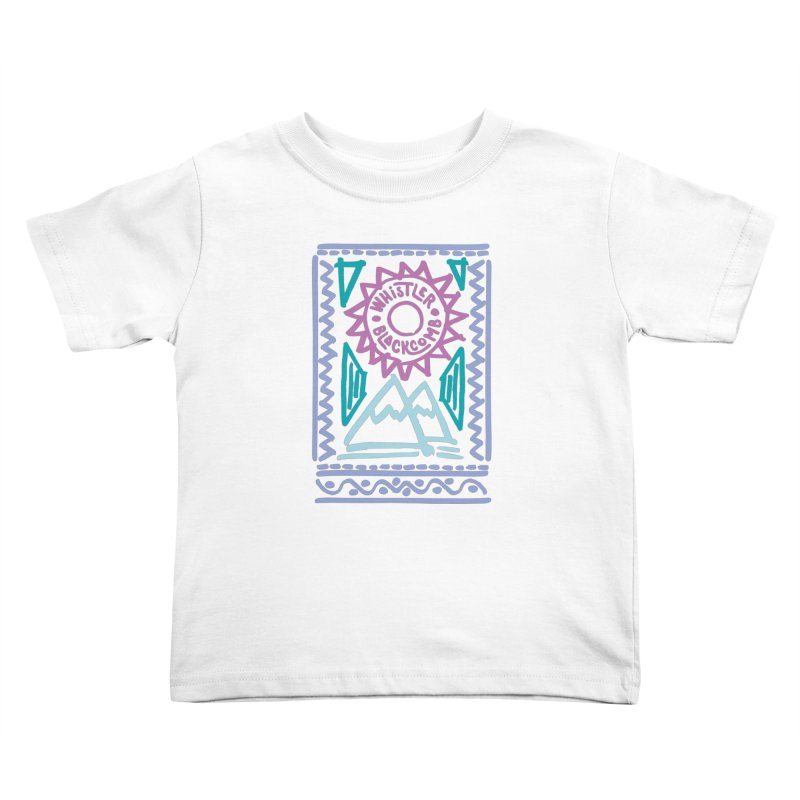 Whistler Blackcomb Retro Kids Toddler T-Shirt by rad mountain designs by Ginette