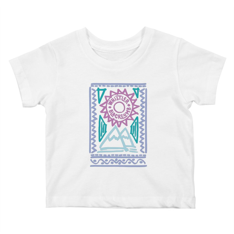Whistler Blackcomb Retro Kids Baby T-Shirt by rad mountain designs by Ginette
