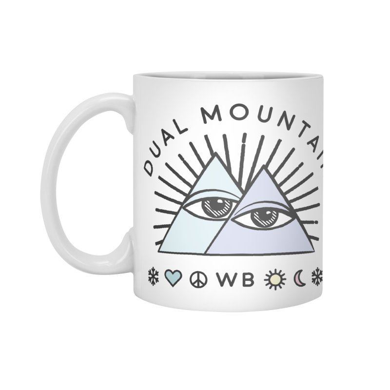 Dual Mountain Accessories Mug by rad mountain designs by Ginette