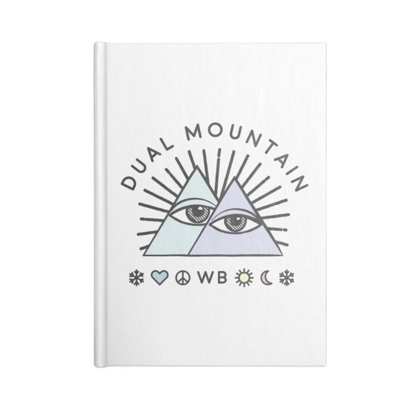 Dual Mountain Accessories Lined Journal Notebook by rad mountain designs by Ginette