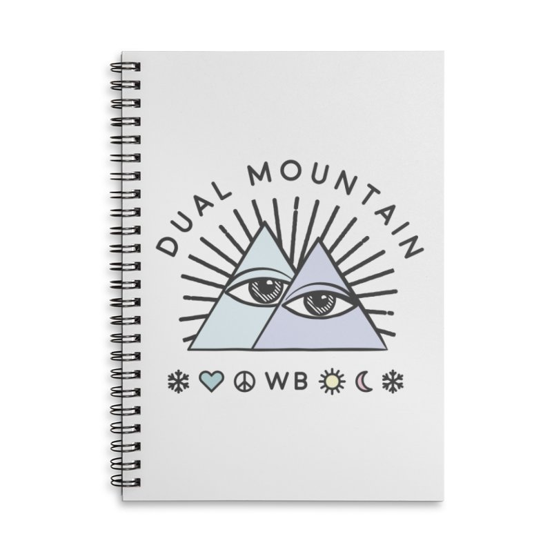 Dual Mountain Accessories Lined Spiral Notebook by rad mountain designs by Ginette