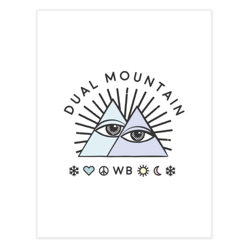 Dual Mountain Home Fine Art Print by rad mountain designs by Ginette