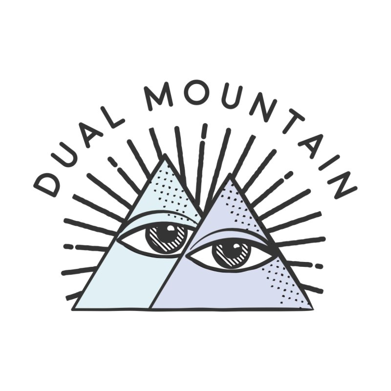 Dual Mountain Men's T-Shirt by rad mountain designs by Ginette