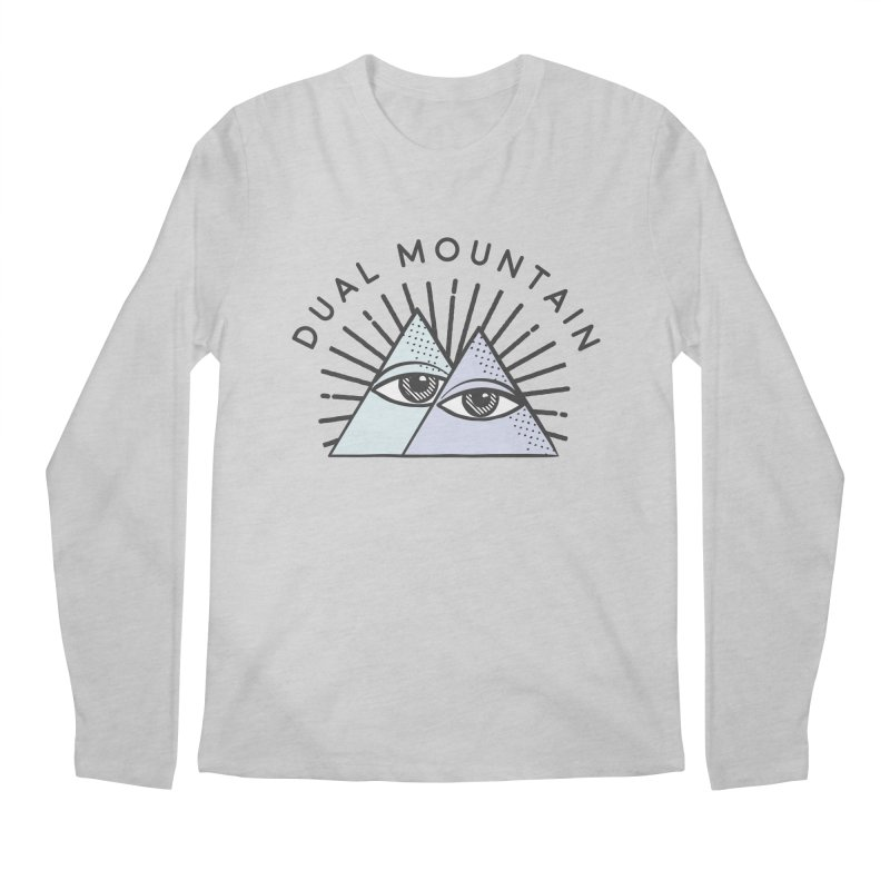 Dual Mountain Men's Regular Longsleeve T-Shirt by rad mountain designs by Ginette