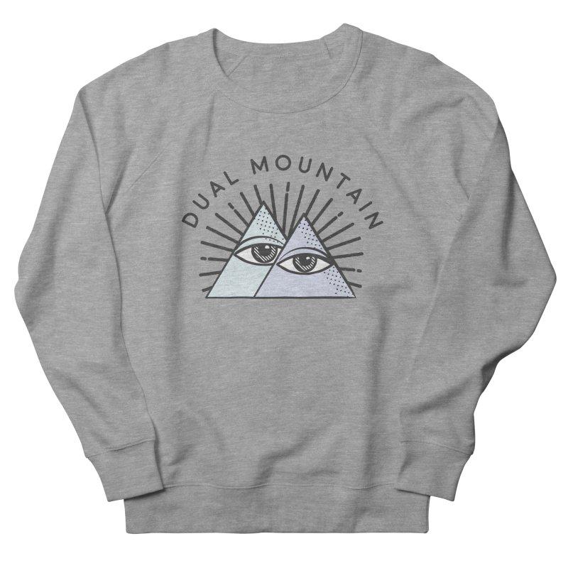 Dual Mountain Women's Sweatshirt by rad mountain designs by Ginette