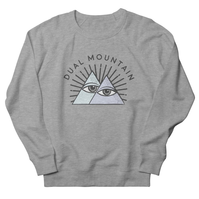 Dual Mountain Men's Sweatshirt by rad mountain designs by Ginette