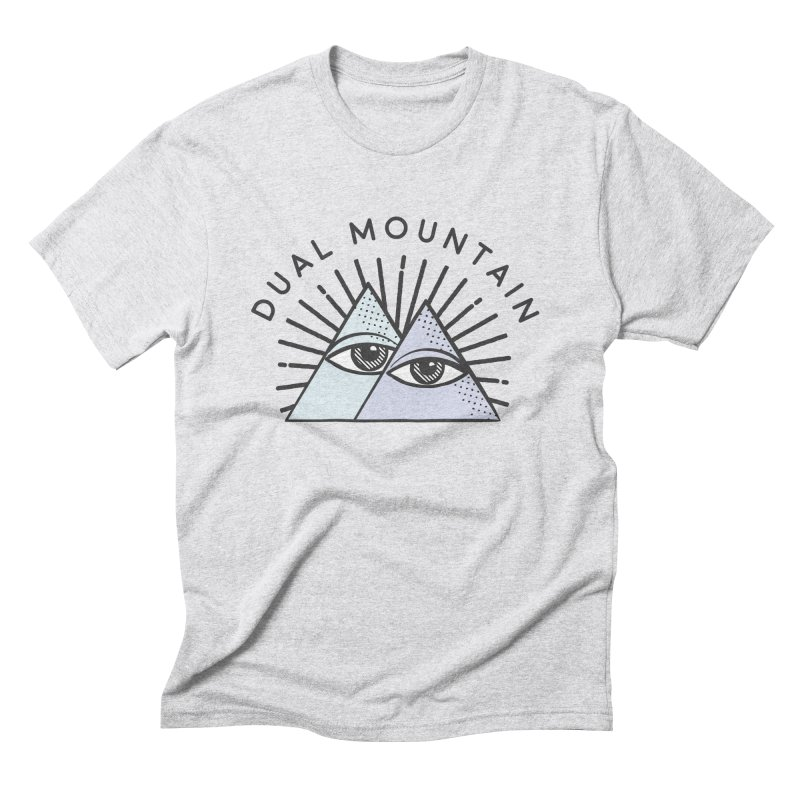 Dual Mountain Men's Triblend T-shirt by rad mountain designs by Ginette