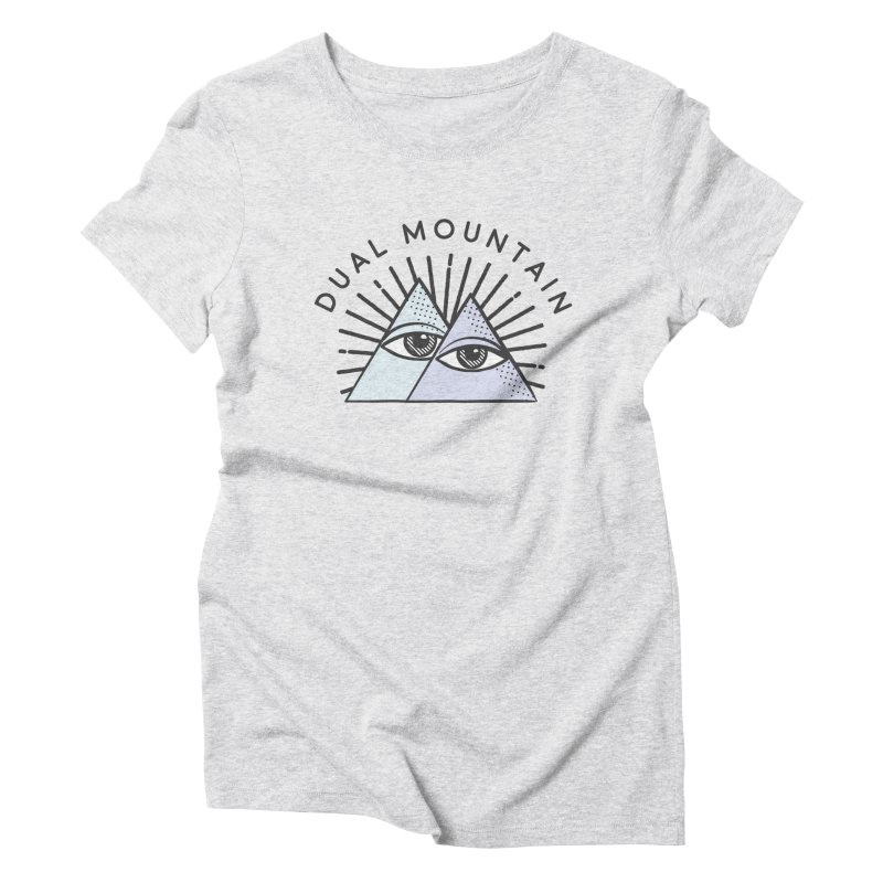Dual Mountain Women's Triblend T-Shirt by rad mountain designs by Ginette