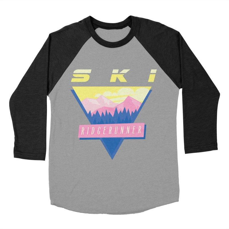 Ski Ridgerunner Women's Baseball Triblend T-Shirt by rad mountain designs by Ginette