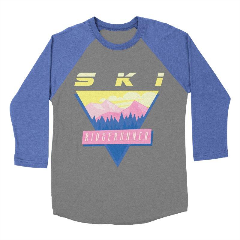 Ski Ridgerunner Men's Baseball Triblend T-Shirt by rad mountain designs by Ginette
