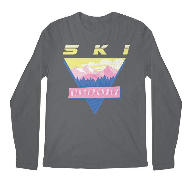 Ski Ridgerunner Men's Regular Longsleeve T-Shirt by rad mountain designs by Ginette