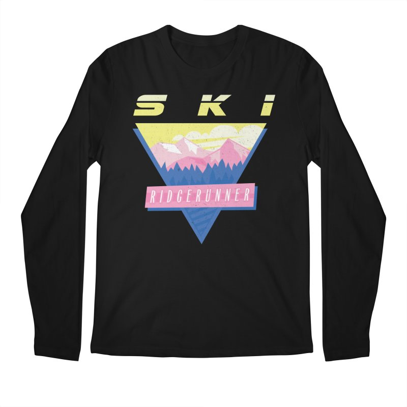 Ski Ridgerunner Men's Regular Longsleeve T-Shirt by rad mountain designs by Ginette