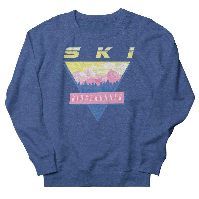 Ski Ridgerunner Men's French Terry Sweatshirt by rad mountain designs by Ginette