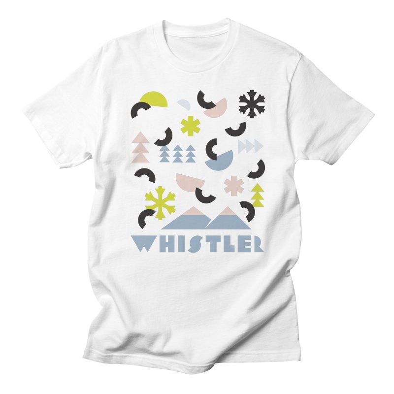 Whistler memphis retro Men's T-Shirt by rad mountain designs by Ginette