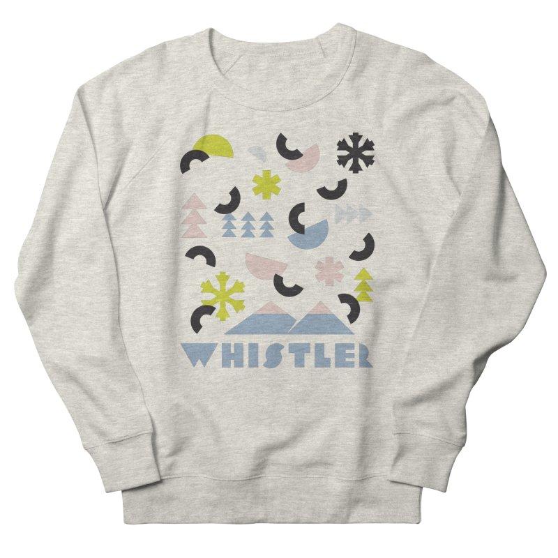 Whistler memphis retro Men's Sweatshirt by rad mountain designs by Ginette