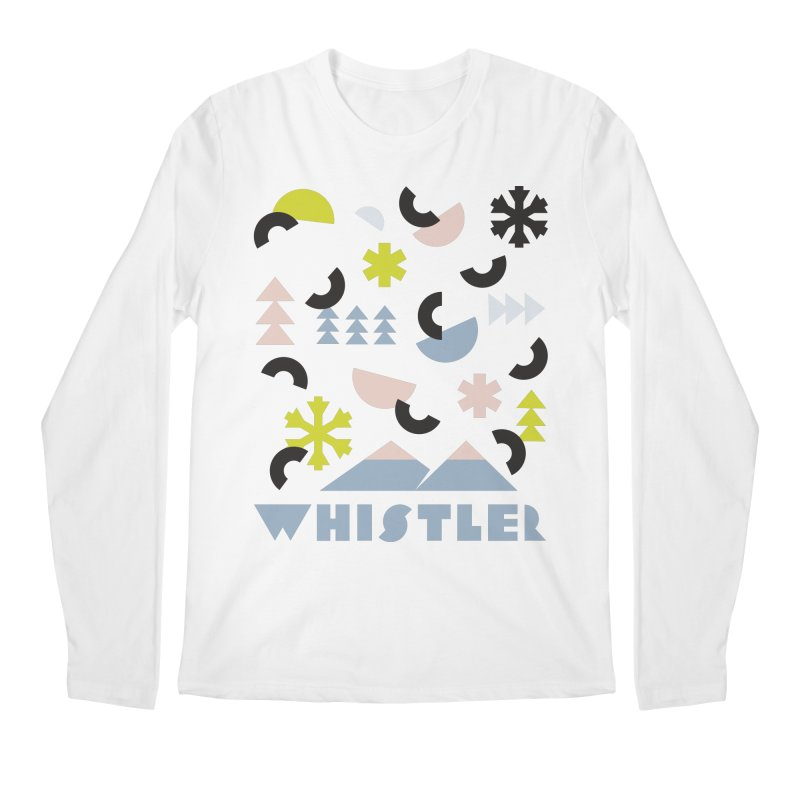 Whistler memphis retro Men's Regular Longsleeve T-Shirt by rad mountain designs by Ginette