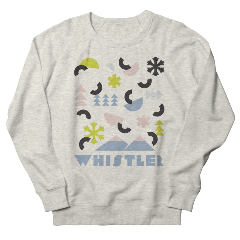 Whistler memphis retro Women's French Terry Sweatshirt by rad mountain designs by Ginette