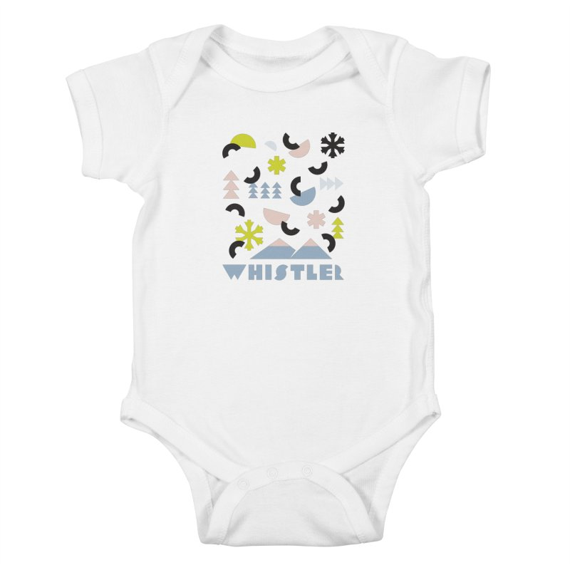 Whistler memphis retro Kids Baby Bodysuit by rad mountain designs by Ginette
