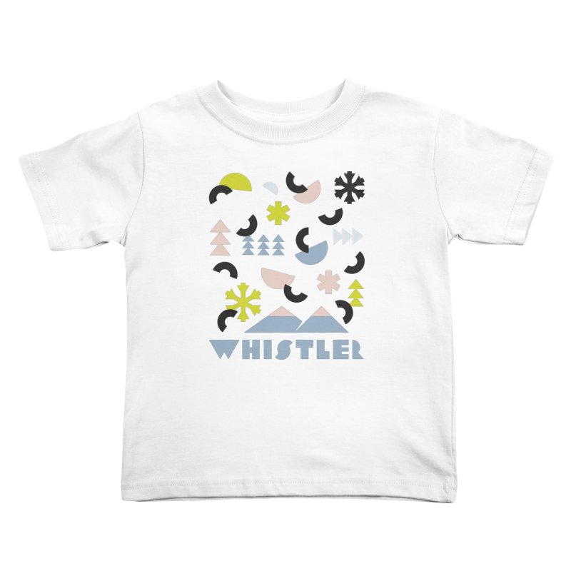 Whistler memphis retro Kids Toddler T-Shirt by rad mountain designs by Ginette