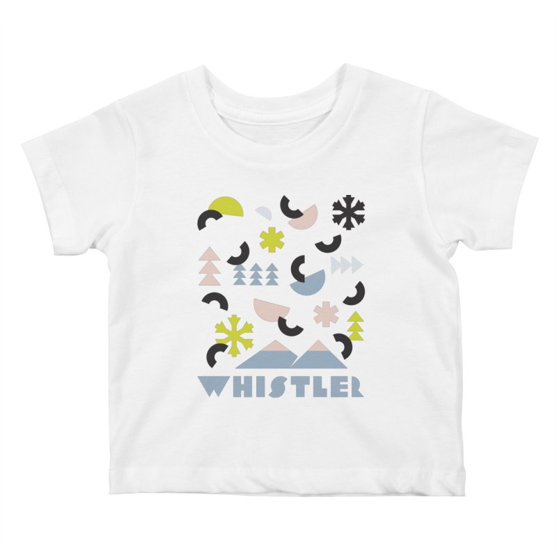 Whistler memphis retro Kids Baby T-Shirt by rad mountain designs by Ginette