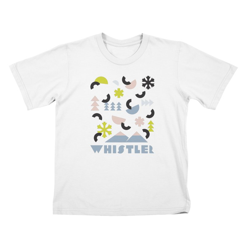 Whistler memphis retro Kids T-Shirt by rad mountain designs by Ginette