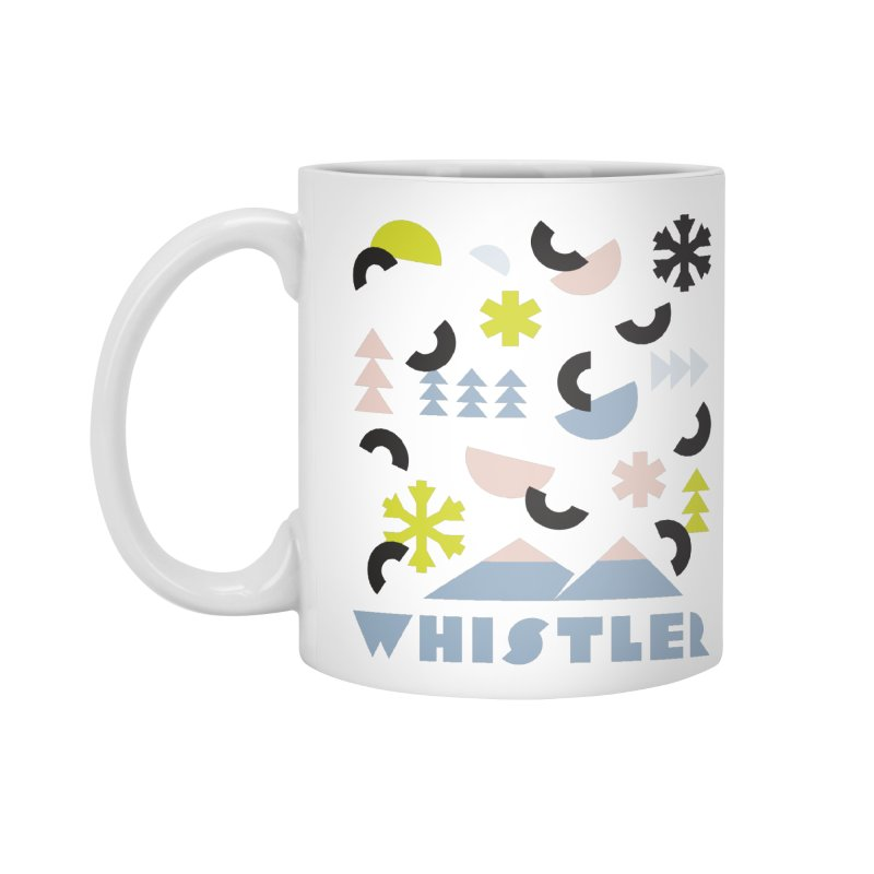Whistler memphis retro Accessories Mug by rad mountain designs by Ginette