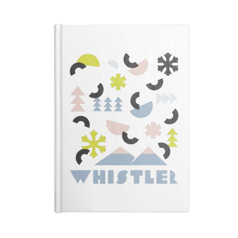 Whistler memphis retro Accessories Blank Journal Notebook by rad mountain designs by Ginette