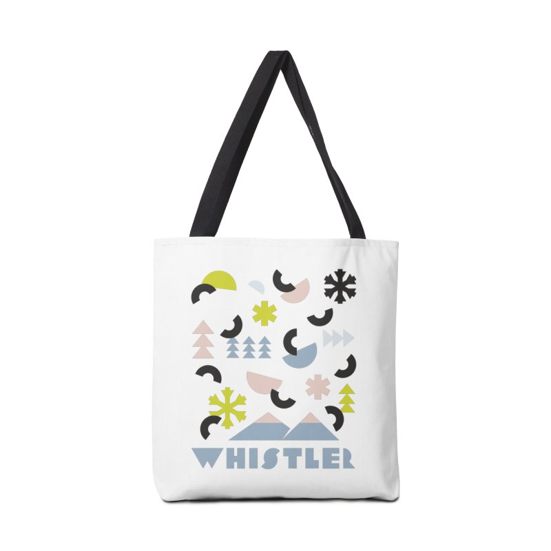 Whistler memphis retro Accessories Bag by rad mountain designs by Ginette