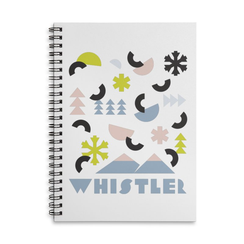 Whistler memphis retro Accessories Lined Spiral Notebook by rad mountain designs by Ginette