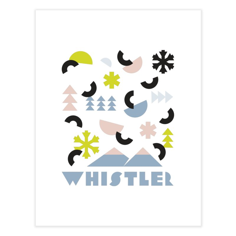 Whistler memphis retro Home Fine Art Print by rad mountain designs by Ginette