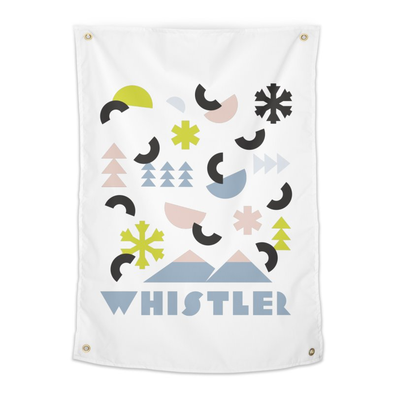 Whistler memphis retro Home Tapestry by rad mountain designs by Ginette