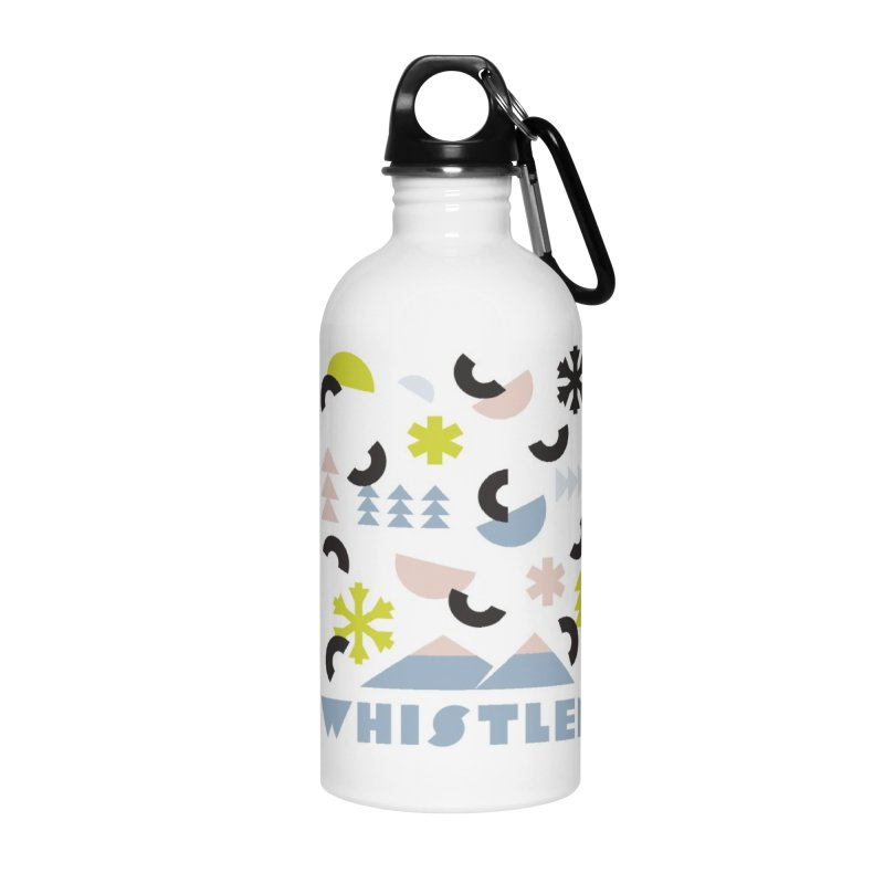 Whistler memphis retro Accessories Water Bottle by rad mountain designs by Ginette