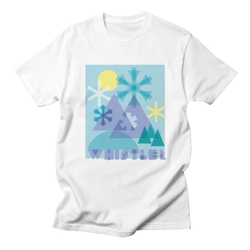 Whistler snowflakes Men's T-Shirt by rad mountain designs by Ginette