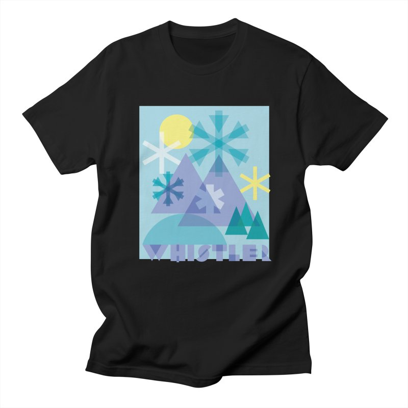 Whistler snowflakes Men's Regular T-Shirt by rad mountain designs by Ginette