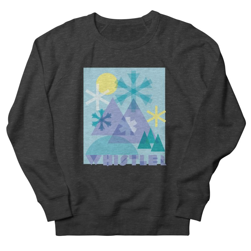 Whistler snowflakes Women's Sweatshirt by rad mountain designs by Ginette