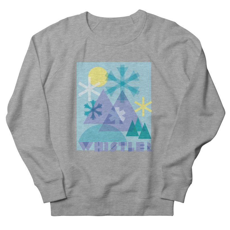 Whistler snowflakes Women's French Terry Sweatshirt by rad mountain designs by Ginette