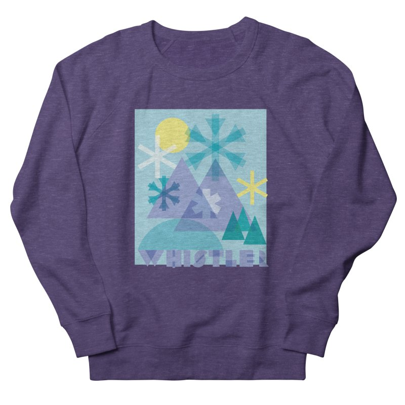 Whistler snowflakes Men's Sweatshirt by rad mountain designs by Ginette