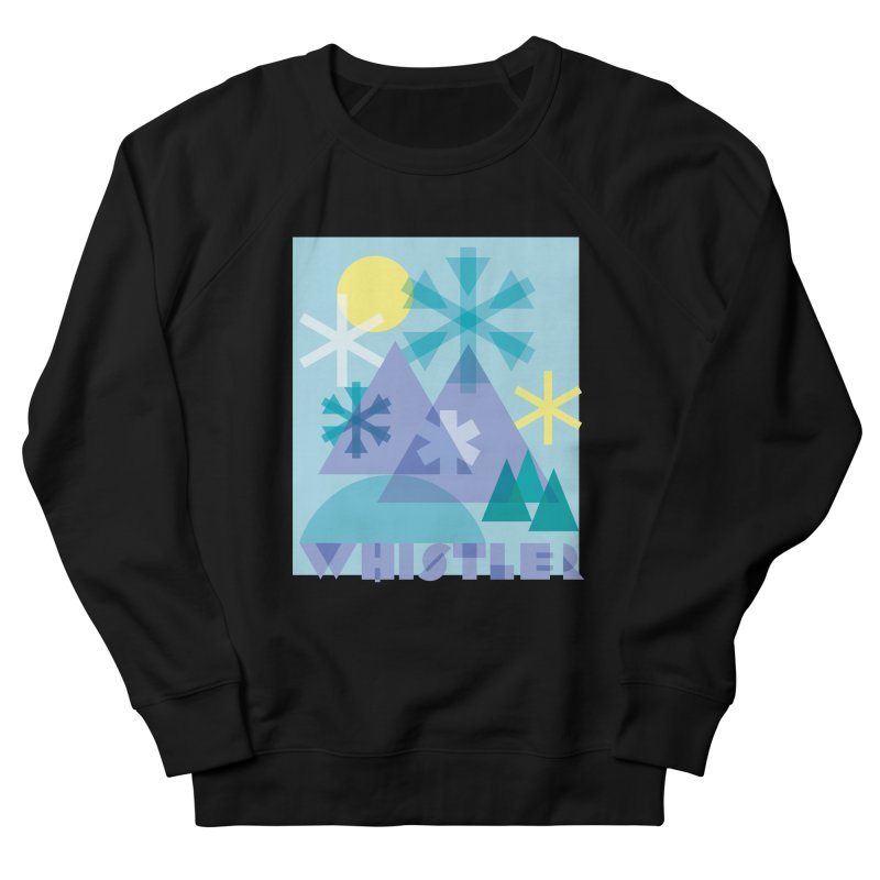 Whistler snowflakes Men's French Terry Sweatshirt by rad mountain designs by Ginette