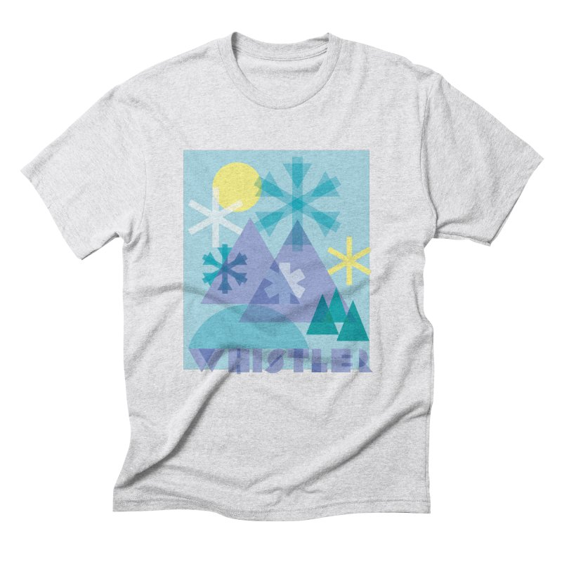Whistler snowflakes Men's Triblend T-Shirt by rad mountain designs by Ginette