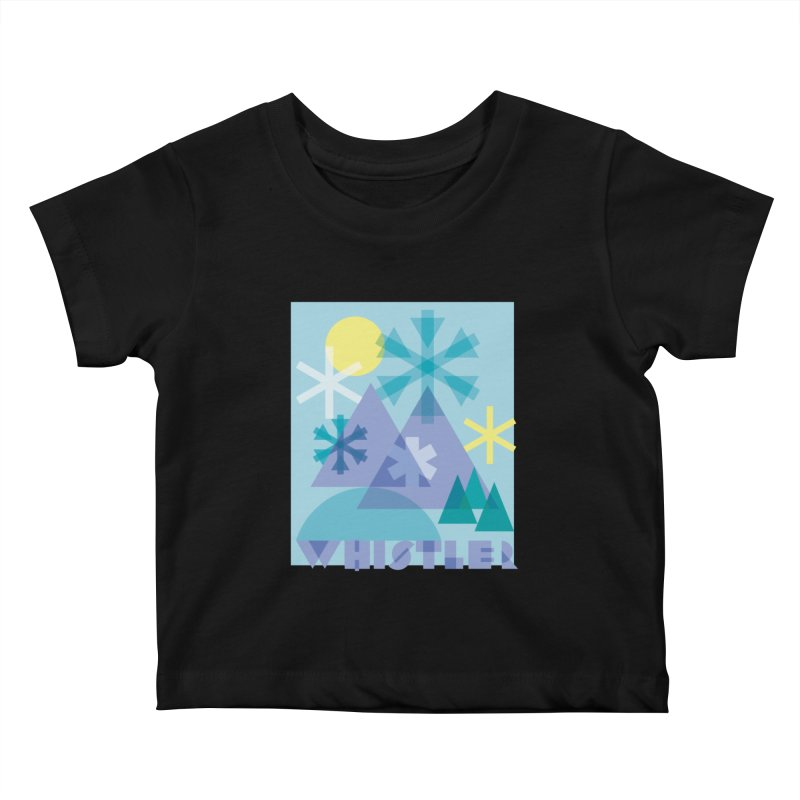 Whistler snowflakes Kids Baby T-Shirt by rad mountain designs by Ginette